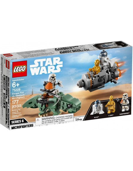 LEGO Star Wars - Capsule de sauvetage contre Microfighter Dewback - 75228